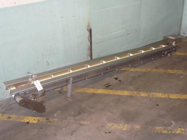 Conveyor belt conveyor Stainless Steel, 4 wide x 120 long