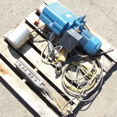 Material Handling Equipment chain hoist, 2000 lbs. Demag 13 long chain