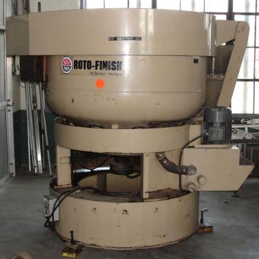 Machine Tool 10 cu ft capacity Roto-Finish model ER-1011C-94-E1 vibratory finishing mill, 60 diameter, 7.5 hp