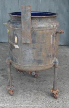 Tank 50 gallon vertical tank, Glass-Lined Carbon Steel, 75 psi jacket, dish Bottom