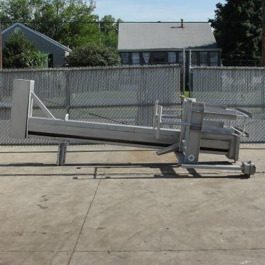 Material Handling Equipment tote dumper, 1000 lbs. Custom Metalcraft Inc model EDB-3.5, 120 dump height