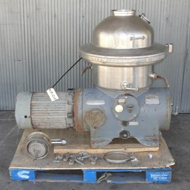 Centrifuge 20 hp Westfalia auto disk centrifuge model SA-20-06-076, 6500 bowl rpm, Stainless Steel