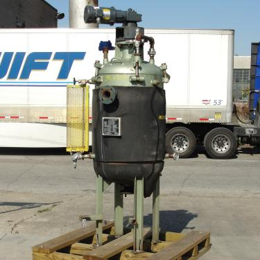 Reactor 65 gallon chemical reactor, 110 psi internal, 50 psi jacket, 1 hp 3 blade agitator
