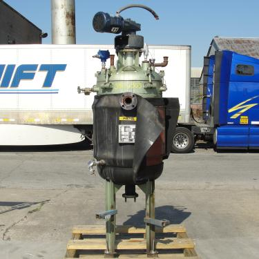 Reactor 65 gallon Mid-South Maintenance Inc chemical reactor, 110 psi internal, 50 psi jacket, 1 hp 3 blade agitator