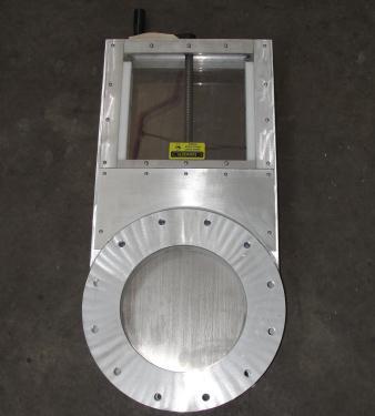 Valve 10 Lorenz gate valve, hand crank, Aluminum