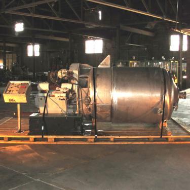 Mixer and Blender 400 gallons capacity Buhler vacuum mixer scrape and dispersion agitator, FV and 3 psi at 250° F internal, 50 psi at 250° F jacket