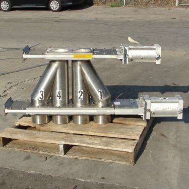 Valve 6 Vortex pneumatic diverter valve, DA6-4SSY-S 316 SS