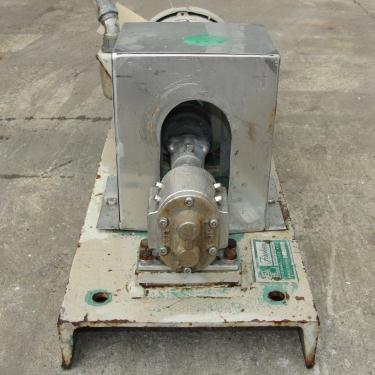 Pump 1 inlet Fischer positive displacement pump 1 hp, Stainless Steel