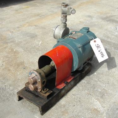 Pump 3/4 inlet Sherwood positive displacement pump .5 hp, Bronze