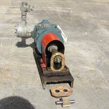 Pump 3/4 inlet Sherwood positive displacement pump .5 hp, Bronze