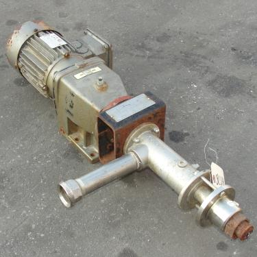 Pump Seepex progressive cavity pump model MD 003-12, 1 hp, Stainless Steel