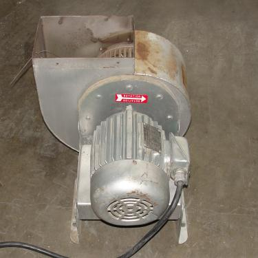 Blower 1915 cfm centrifugal fan New York Blower Co size 90 model Junior Fan, 1.5 hp, Aluminum