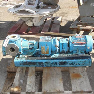 Pump 3 inlet Viking Pump positive displacement pump model K4724, 5 hp, Stainless Steel Contact Parts