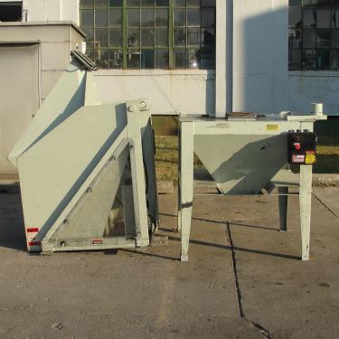 Material Handling Equipment tote dumper, 2500 lbs. IMCS Inc. model J19247, 25 w x 30 l x 33 t
