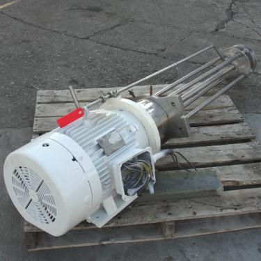 Homogenizer 25 hp Jaygo batch high shear mixer model GM-20, 3545 rpm, Stainless Steel