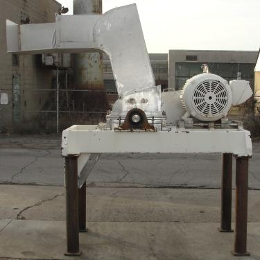 Mill Fitzpatrick model 59 Fitzmill, Stainless Steel Contact Parts, 50 hp, pan type feed