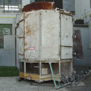 Dryer Wyssmont rotary tray dryer 17 shelves, 78 tray diameter, natural gas heat, Stainless Steel Contact Parts