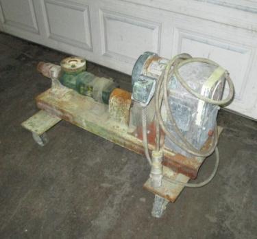 Pump size 1.5 Moyno progressive cavity pump model 1L3CDQ, 3 hp, CS