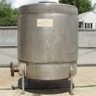 Tank 1000 gallon vertical tank, Stainless Steel, flat bottom