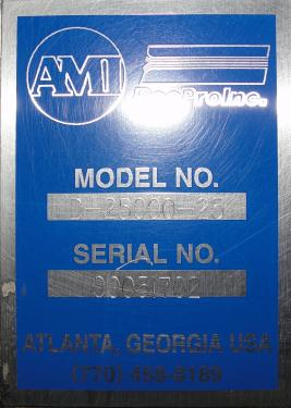 Form Fill and Seal AMI vertical form fill seal model TopZip D-2500-25, 60 bpm