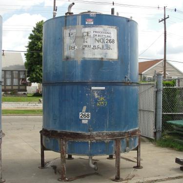 Tank 1821 gallon vertical tank, Inconel, slope