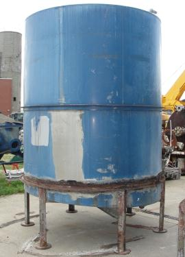 Tank 1821 gallon vertical tank, Inconel, slope Bottom