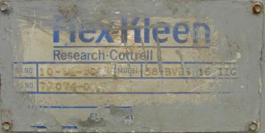Dust Collector 110 sq.ft. Flex-Kleen reverse pulse jet dust collector