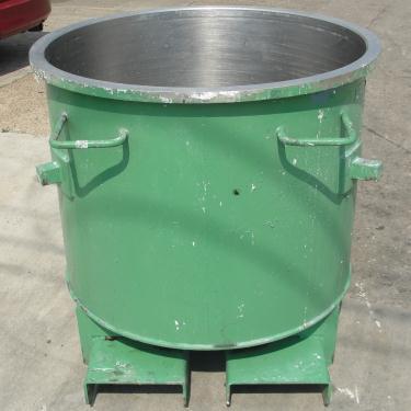 Mixer and Blender 125 gallon Ross change can Stainless Steel 39.25 inside diameter 31.5 inside height