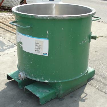 Mixer and Blender 125 gallon Ross charge can Stainless Steel 39.25 inside diameter 31.5 inside height