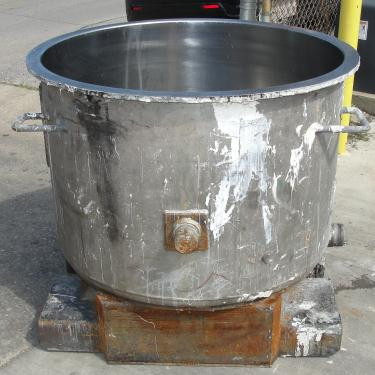 Mixer and Blender 100 gallon Ross change can Stainless Steel 39.25 inside diameter 27.5 inside height