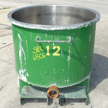 Mixer and Blender 100 gallon Ross charge can Stainless Steel 39.25 inside diameter 27.5 inside height