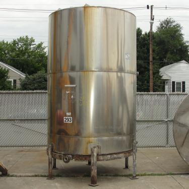 Tank 2040 gallon vertical tank, Stainless Steel, slope