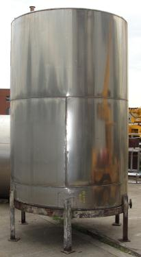 Tank 2040 gallon vertical tank, Stainless Steel, slope bottom