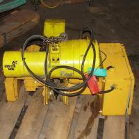 Material Handling Equipment chain hoist, 2000 lbs. Budgit model 11689957, 10 chain