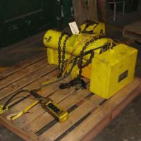 Material Handling Equipment chain hoist, 2000 lbs. Budgit model 11689957, 10