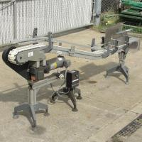 Conveyor inclined belt conveyor Aluminum, 4 w x 92 l, 32.75 discharge height