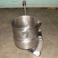 Kettle 5 gallon Groen hemispherical bottom kettle, 45 psi jacket rating, Stainless Steel