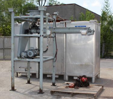 Material Handling Equipment tote unloader Metal Craft 70 cu.ft. 4000 lbs capacity (3) 70 cuft  aluminum totes included