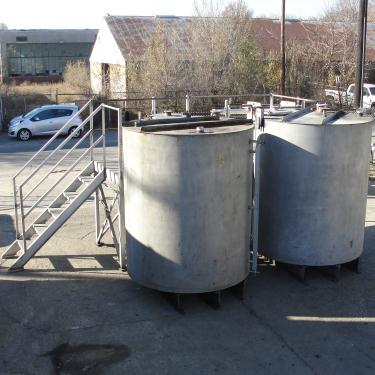 Tank 1450 gallon vertical tank, Stainless Steel, flat Bottom