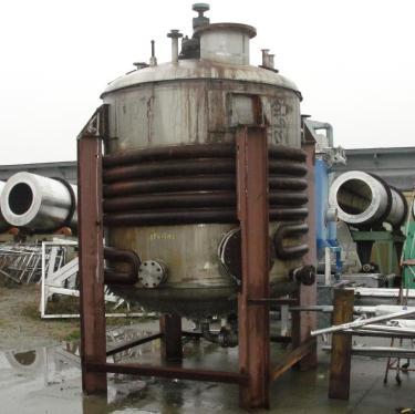Reactor 1500 gallon Alloy Craft chemical reactor, 132 psi internal