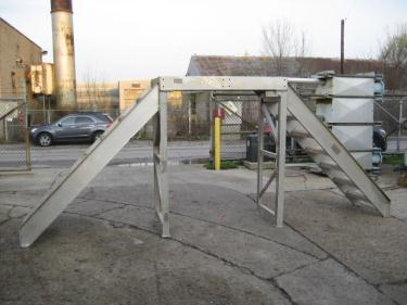 Miscellaneous Equipment stairways and safety cross over stairway, 6, Aluminum, cross over 72 h x 28 w x 188l overall size