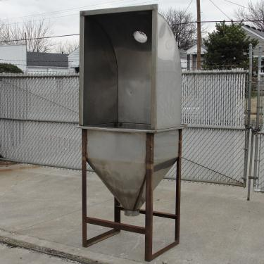 Material Handling Equipment bag dump station, 7 cu ft Stainless Steel