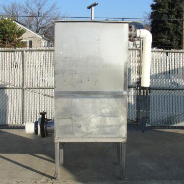 Tank 225 gallon vertical tank, Stainless Steel, flat