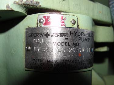 Pump 15 hp Vickers hydraulic pump