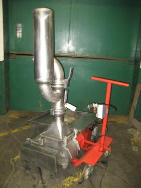 Pump 9 inlet Volupompa positive displacement pump 5.5 hp, Stainless Steel Wine Must Pump