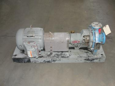 Pump 1.5x1x8 Durco centrifugal pump, 5 hp, Stainless Steel
