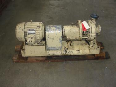 Pump 2x1x8 Goulds centrifugal pump, 7.5 hp, Stainless Steel