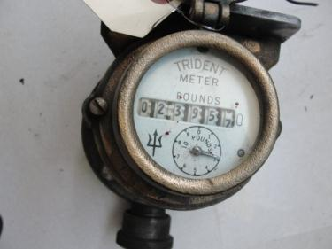 Valve 1 Neptune model Trident liquid flow meter, CS, measures in Pounds