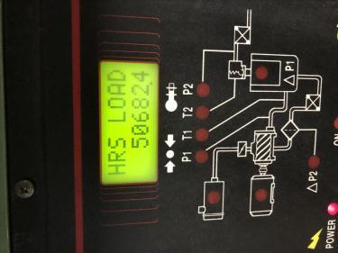 Compressor Sullair air compressor model LS20-100L AC, 500 cfm, Water cooled