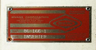 Cartoner Bivans semi-automatic cartoner model 66 SN 86-66 PR